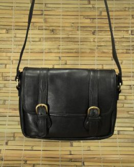 Edward - Cow Leather - Black - Messenger Bag