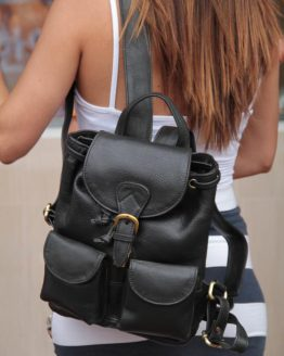 Anita Small - Cow Leather - Black - Backpack