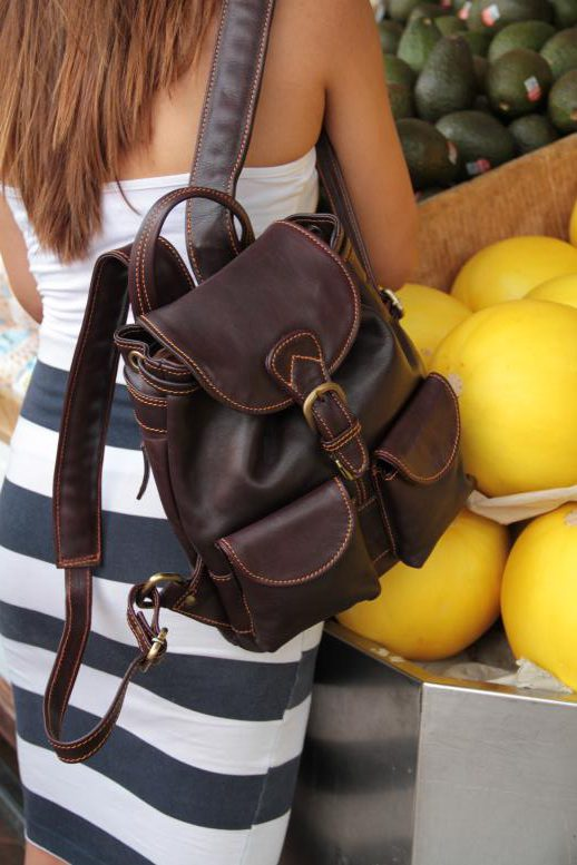 Anita Small - Cow Leather - Burgundy - Backpack