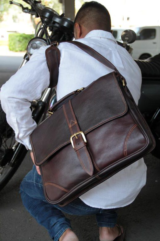 Benny - Cow Leather - Burgundy - Briefcase