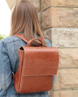 Karen - Cow Leather - Cognac - Backpack
