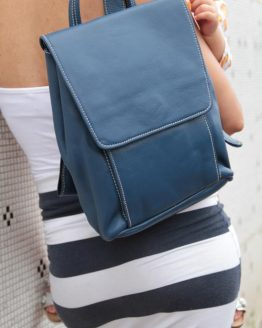 Lucy - Cow Leather - Blue - Backpack