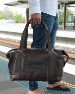 Santiago Small - Cow Leather - Burgundy - Travelbag