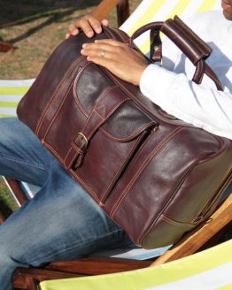 Vienna - Cow Leather - Burgundy - Travelbag