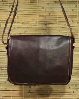 Barton - Cow Leather - Burgundy - Messenger Bag