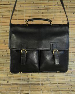 George - Cow Leather - Black - Briefcase