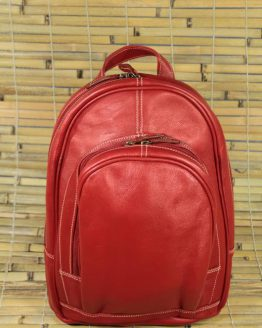 Gina - Cow Leather - Red - Backpack