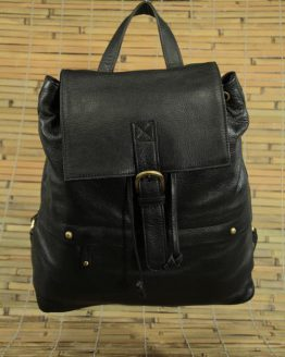 Kelly - Cow Leather - Black - Backpack