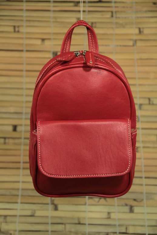 Suzy Small - Cow Leather - Red - Backpack