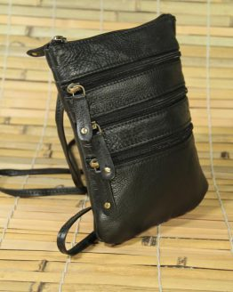 Achilles - Cow Leather - Black - Crossbody Bag
